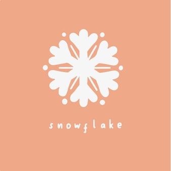 スノーフレークシンボルソーシャルメディアポストクリスマスベクトルイラスト