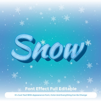Snowflake text graphic style 3d design