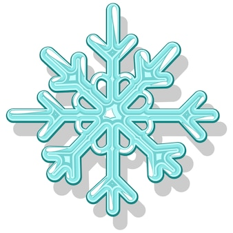 Snowflake vector illustration isolated on a white background.