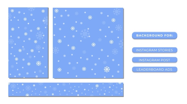 Снежинка с синим фоном для публикаций в социальных сетях и рекламы на веб-сайтах