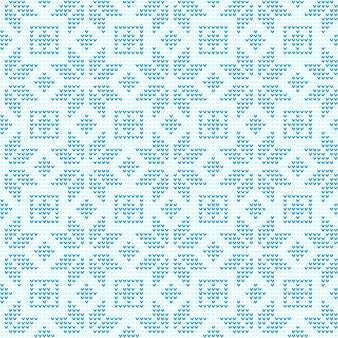 Snowflake x'mas knitting seamless repeating pattern background illustration