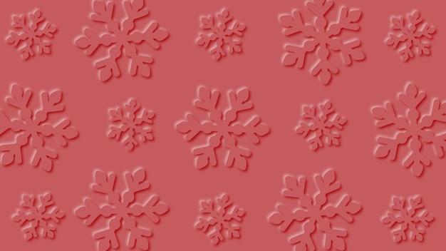 Snowflakes background paper art design