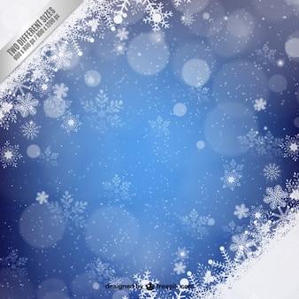 Snowflakes christmas blue background