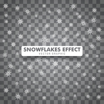 Snowflakes christmas isolated transparent background.