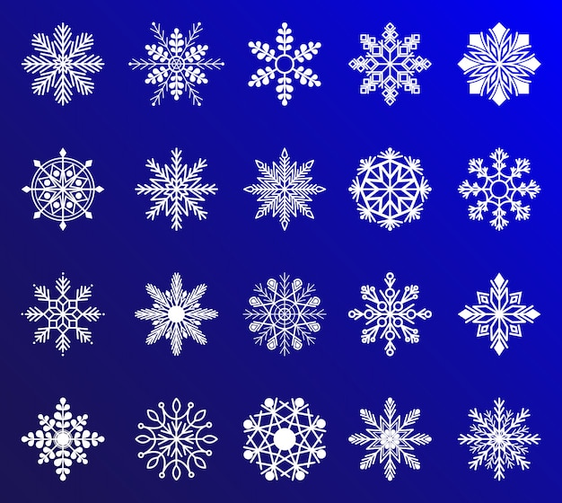 Snowflakes collection for design christmas and new year