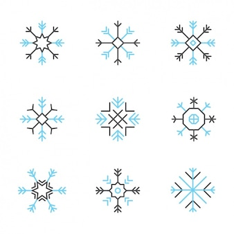 Коллекция снежинки