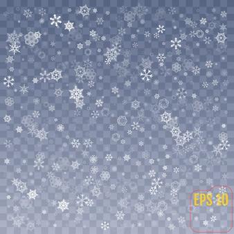 Snowflakes decoration effect. confetti