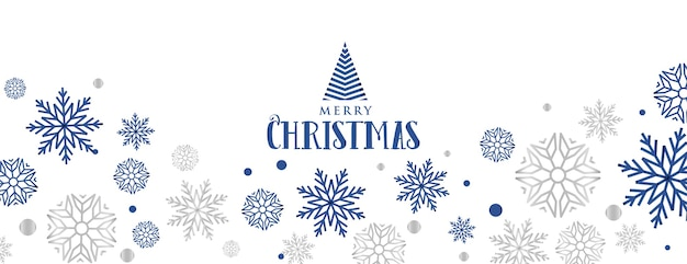 Снежинки декоративный баннер для счастливого рождества