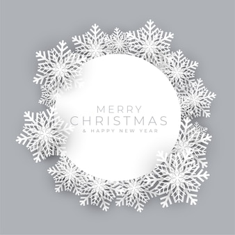 Snowflakes frame for merry christmas festival background