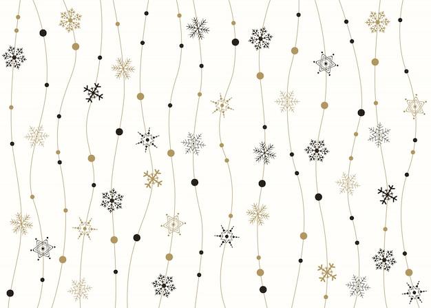 Snowflakes golden