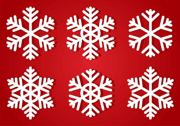 Snowflakes icon collection.