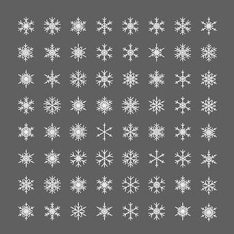 눈송이 아이콘 라인 눈송이 얼음 픽토그램