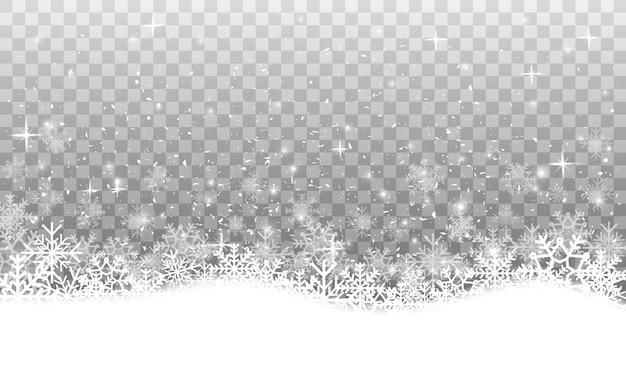 Снежинки разной формы и формы