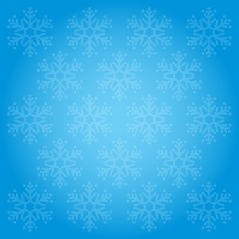 Snowflakes pattern and backgrounds blue