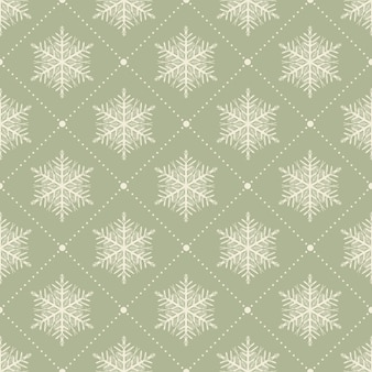 Snowflakes pattern for winter background. creative and retro style illustration