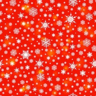 Snowflakes seamless pattern background