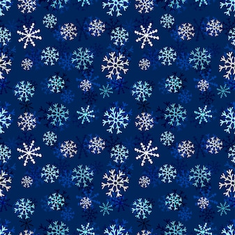スノーフレークシームレスパターン