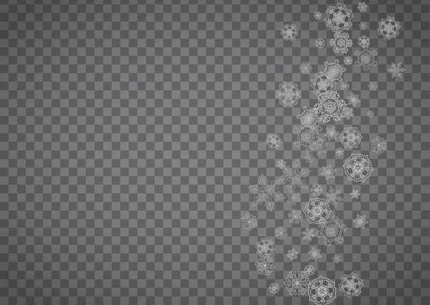 Snowflakes on transparent background