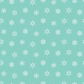 Snowflakes winter christmas pattern seamless background
