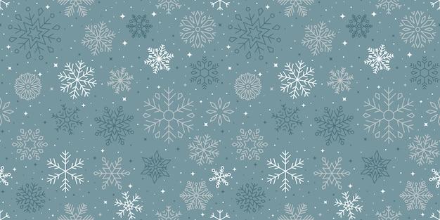 Снежинки зимний сезон шаблон дизайна