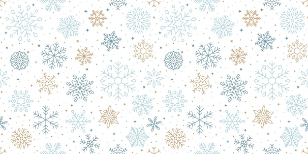 Snowflakes winter seson pattern design