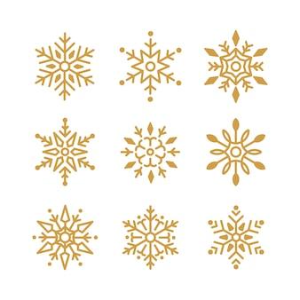 Snowflakesクリスマスデザインベクトルのセット