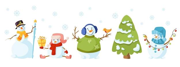눈사람 만화 크리스마스 파티
