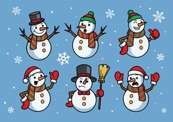 Снеговик мультяшный набор
