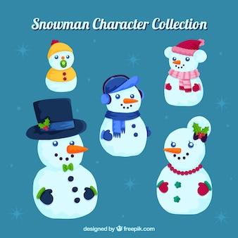 Коллекция персонажей снеговиков