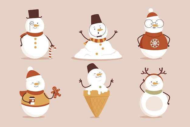 Snowman character collection