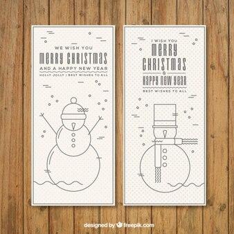 Снеговик рождество баннеры