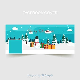 Snowman christmas facebook cover