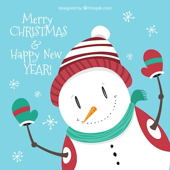 Snowman Christmas Greetings Card