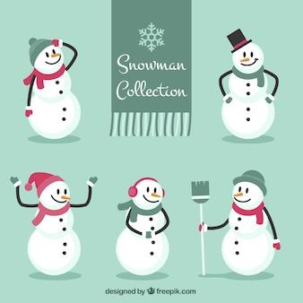 Коллекция снеговик с шарфами