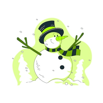 Snowman concept illustration