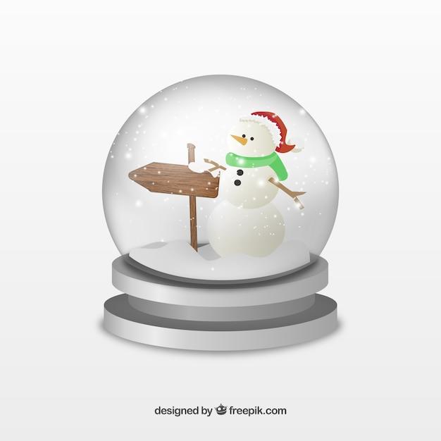 Snowman crystal ball