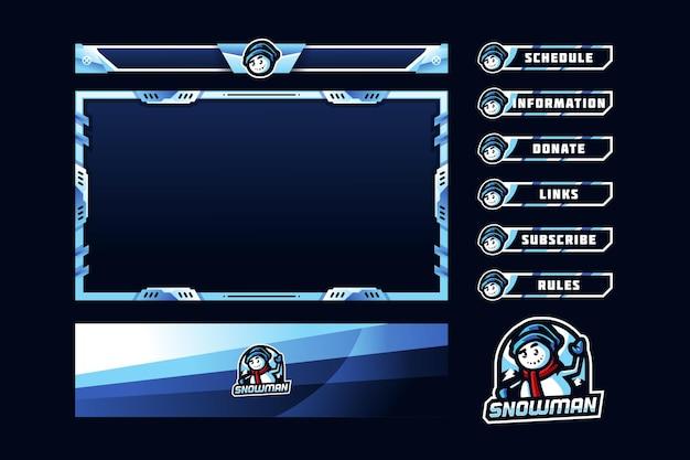 Snowman gaming panel overlay