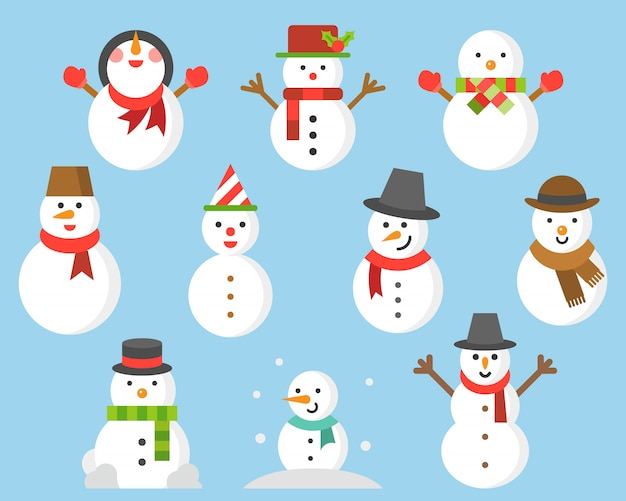 Snowman icon for winter and christmas