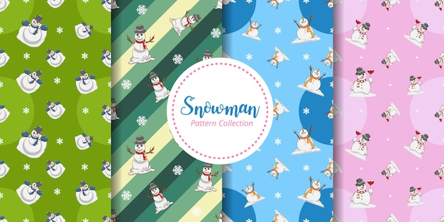 Snowman seamless pattern graphic design