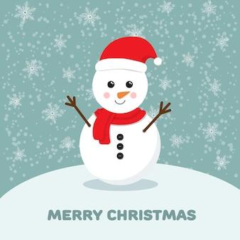 Snowman vector cartoon character