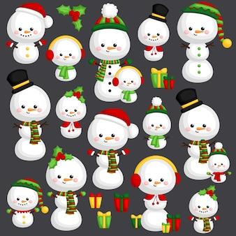 Snowman vector set