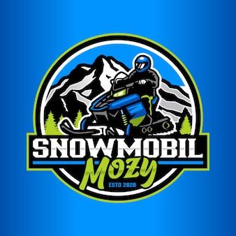 Снегоход логотип шаблон