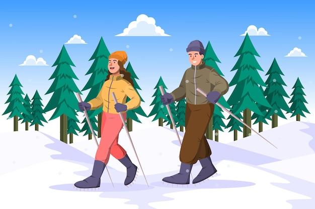 Ходьба на снегоступах - зимнее мероприятие