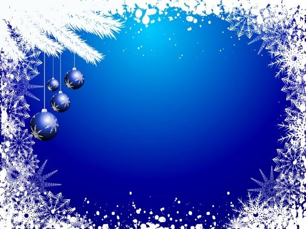 Снежный синий фон рождество