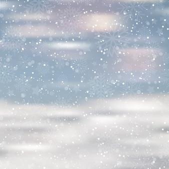 Snowy sfondo sfocato
