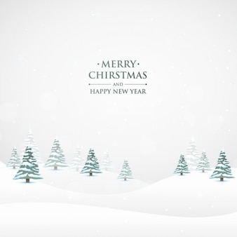 Snowy christmas nature background