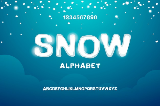 Snowy english alphabet