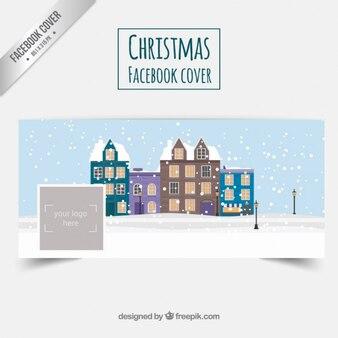 雪に覆われた家のfacebookカバー