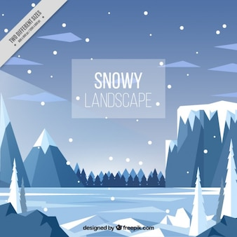 Snowy landscape background