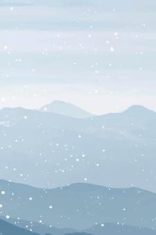 ワシントンdc、米国の雪に覆われたロッククリークパークベクトル